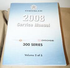 2008 Chrysler Dodge 300 Series Oem Service Shop Manual Volume 2 Only