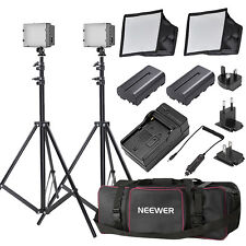 216 LED Video Light *2 + 2 softbox + 2 light stand +  2 battery + 4-in-1 charger