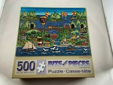 """500 Piece Bits And Pieces Puzzle """"Tales Of Whales"""" 18"""" x 24"""""""