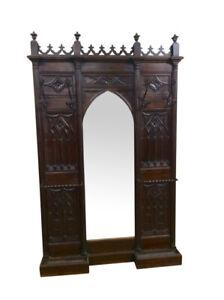 Antique French Gothic Hall Tree Hall Rack, Walnut, 19th Century