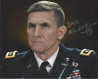 MICHAEL FLYNN SIGNED 8x10 PHOTO C COA NATIONAL SECURITY ADVISOR TO DONALD TRUMP