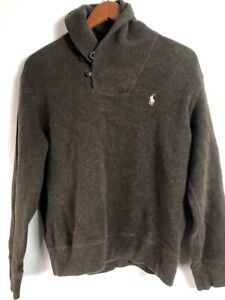 Polo by Ralph Lauren teenagers boys sweater brown sz M- nice! Af9