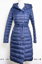 PAJAR CANADA Women's Crystal Down Hooded Belted Puffer Coat Jacket $315 Blue M