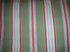 "Gorgeous MTO Curtains in Cath Kidston Stripe Stone and Pink 90"" drop NEW"