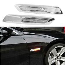 2PCS Chrome Finish Amber 18 LED Side Marker Lights For BMW 3 Series E81 E90 E60