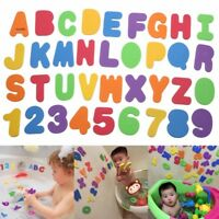 Hot 36PCs/Lot Kids Educational Toys Bath Multi-colour Foam Letters&Num