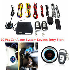 10 Pcs Universal Car Alarm Keyless Entry Engine Start Push Button Remote Starter