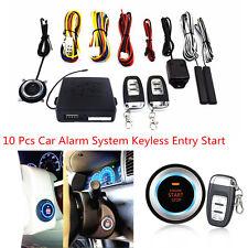 10 Pcs Universal Car Alarm Keyless Entry Engine Start Push Button Remote Starter