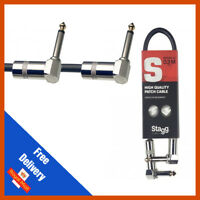 Stagg GUITAR FX PEDAL PATCH CABLE LEAD 30cm With Angled Jacks SPC030L DL