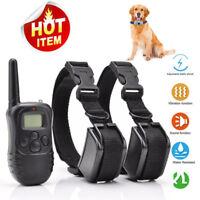 Dog Shock Collar 330Yard Remote Control Vibration Pet Training Waterproof IP67