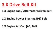 Engine Fan/Alternator+PS+AC Drive Belts For Nissan D22 Pick Up 2.5TD 1998-2001
