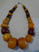 Vintage Cherry Butterscotch Amber Huge Heavy 550g Weight Bakelite Necklace
