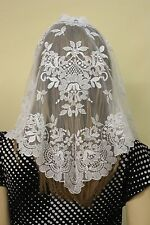 White Spanish style veils and mantilla Catholic Church lace latin (no.1) Large