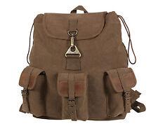 Vintage Wayfarer Backpack - Sporty Canvas Back Pack Bag Outdoor Hiking Packs