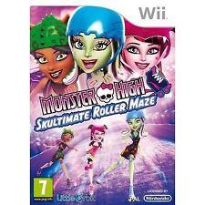 Monster High Skultimate Roller Maze (Wii) & U-Skate Skating 3 Spieler Spiel = Nm ✔