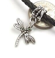Dragonfly Dangle Silver Tone Slider Add a Bead for European Charm Bracelet
