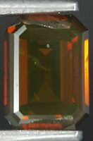 Red Cognac Diamond Emerald Cut Loose Sparkling Best Price Real Image 0.52 Carat