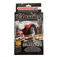 Goodridge Classic Black Brake Hose Set For Triumph TR4 ABK1015CB