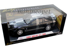 COLLECTIBLES 277 2007 07 FORD SHELBY GT 500 1/18 BLACK with SILVER STRIPES