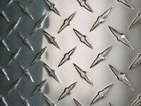 "Aluminum Diamond Tread Plate Sheet .045  24"" x 48"""