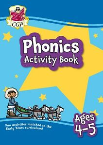 KS1 Ages 4-5 Reception Level Phonics Home Learning Activity Book CGP