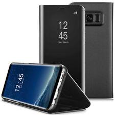 Housse Etui, coque à clapet miroir translucide noir pour Apple iPhone 6/6s