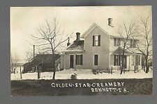 Bennett IOWA RP c1910 GOLDEN STAR CREAMERY nr Davenport DeWitt Tipton Durant