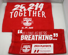 New York Red Bulls Rally Towel Set of 2 from  2014 Playoffs & 25,219 ST213