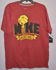 Nike Men's Regular Fit T Shirts Top Active Red 584564 698 Size L New $25