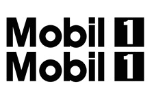 Mobil 1 DECALS QTY (2 items) Free shipping Die Cut