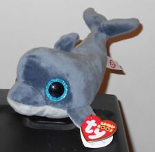 """Ty Beanie Boos - ECHO the 6"""" Dolphin ~ 2017 NEW with MINT TAGS ~ IN HAND So Cute"""