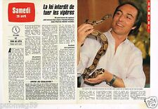 Coupure de presse Clipping 1984 (2 pages) Interdit de Tuer les Vipères