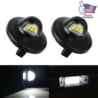 2pcs For Ford F150 Ranger Raptor Explorer Full LED License Plate Light Kit 3 SMD