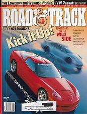 Road & Track May 2006 - Lingenfelter Corvette - W Passat - Audi Q7 - Chevy Max
