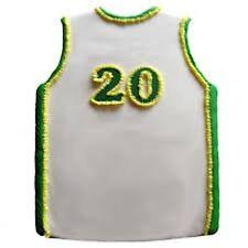 Basketball Jersey Shirt Pantastic White Cake Pan from CK #6008 - New
