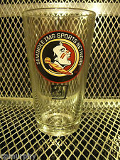 FSU SEMINOLES COORS LIGHT ~ NEW ~ Beer 16oz Pint Glass Orange Bowl
