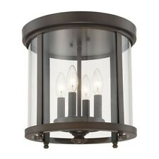 Capital Lighting 4 Light Ceiling, Burnished Bronze, Clear Glass - 214141BB
