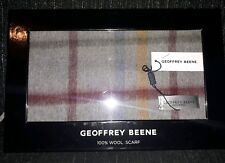 Geoffrey Beene 100% Wool Scarf Grey/Red