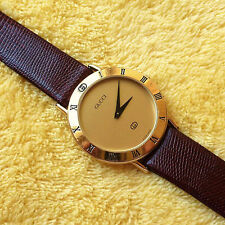 Gucci 3000M Men's or Women's 18KGP Watch in Great Condition - 33 mm