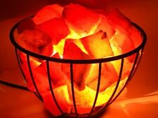 Basket Salt Lamp with 100% Original Natural Himalayan Rock Salt Chunks Original