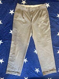 Braggy By Louis Raphael Mens Slim Fit 34x32  Stretch Khaki Color Pants