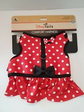 💥New Disney Tails Small Dog Comfort Harness~ Minnie Mouse Polka Dot Costume Nwt