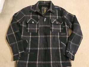EXC Vintage Billabong Flannel Style Wool Zip Up  Jacket Surfer Size Large