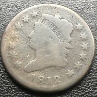 1812 Large Cent Classic Head One Cent 1c Rare Better Grade  #18468