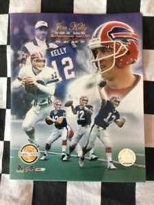 JIM KELLY Hall of Fame PF Gold LIMITED EDITION 8X10 PHOTO Buffalo Bills