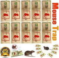 Traditional Wooden Mouse Traps Classic Mice Rat Pet Rodent Control Catch Trap UK