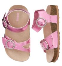 NWT Gymboree Jump Into Summer Trail Sandals Pink Shoes Girls Size 8