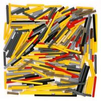Lego Technic - Axles Rods Shafts Yellow Black Red Grey - Selection 280 Parts NEW