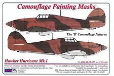 "AML Models 1/32 HAWKER HURRICANE Mk.I ""B"" PATTERN Camouflage Paint Mask Set"