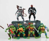 Teenage Mutant Ninja Turtles 6 Pcs/Set action figure toy model Splinter Raphael